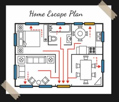 Plan your escape mattawa fire department for Home fire safety plan