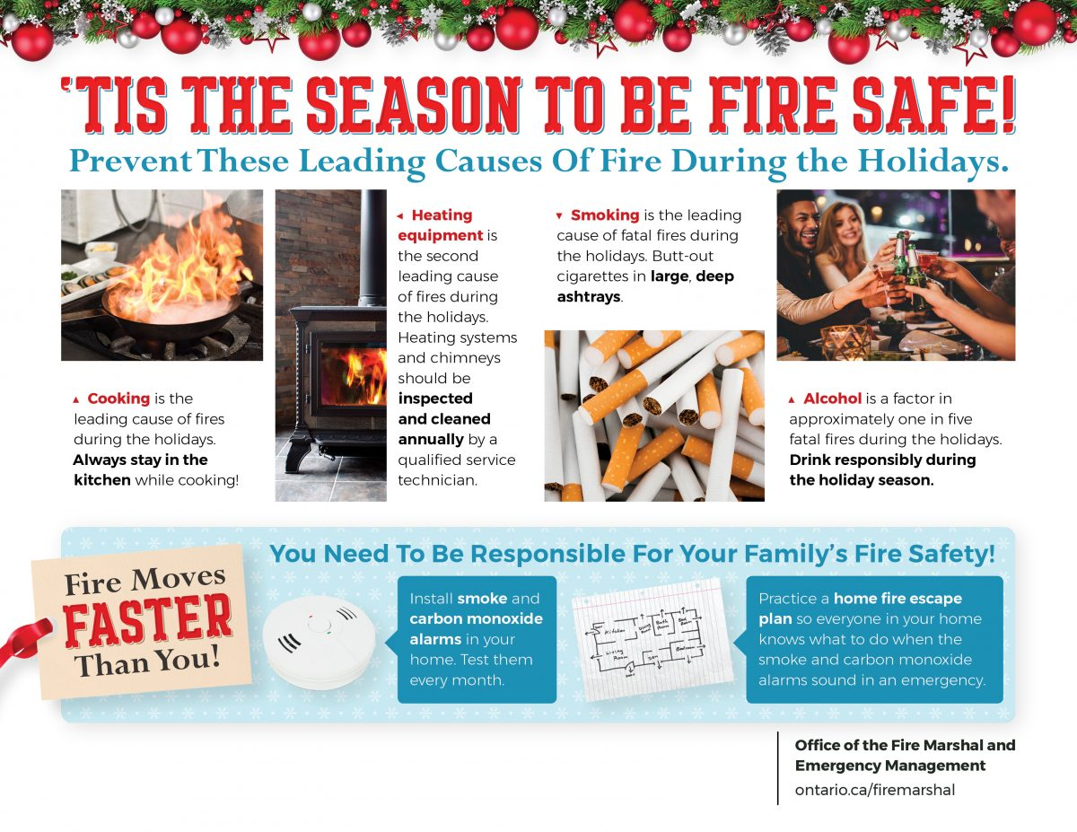 'Tis the Season to be Fire Safe!