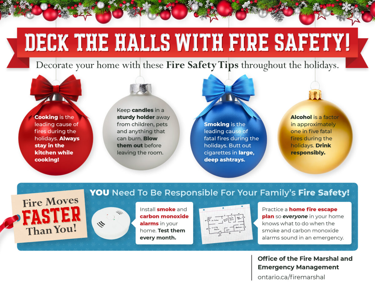 Deck the Halls with Fire Safety