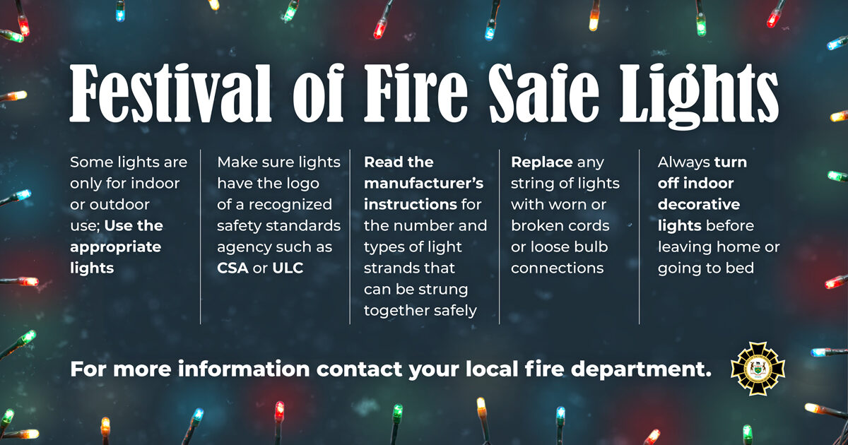 Make sure your lights are fire safe!