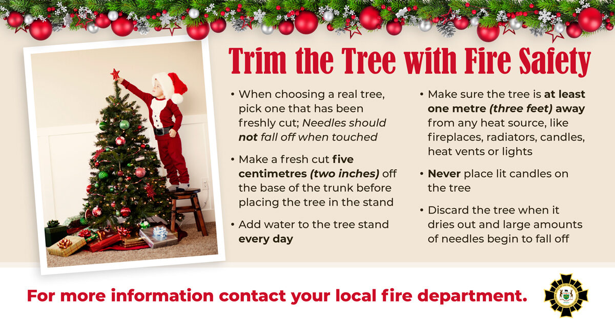 Trim the Tree with Fire Safety in Mind